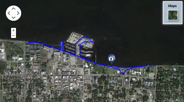 Our trip route on the Sanford Riverwalk