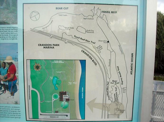 Crandon Park map