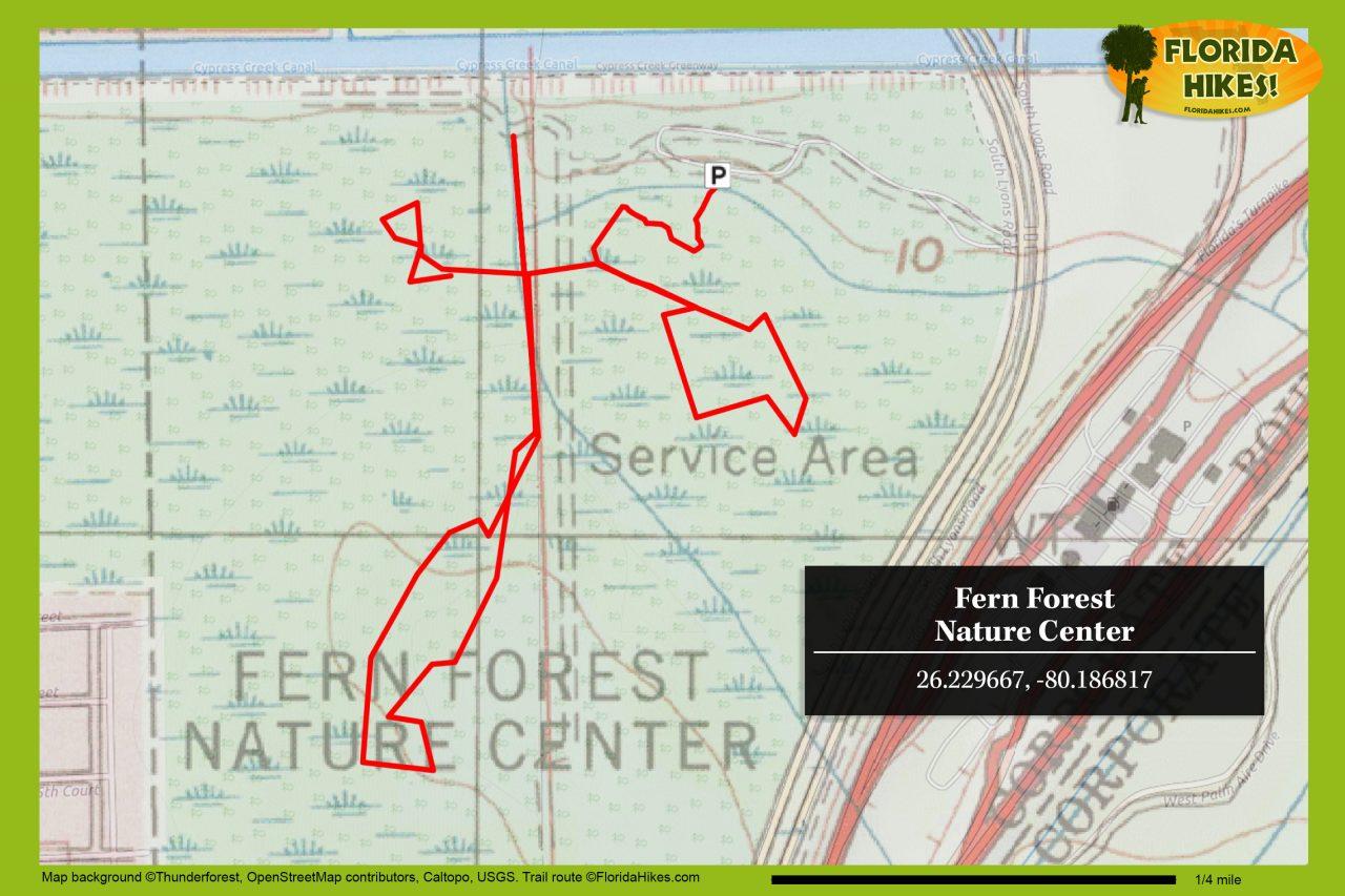 Fern Forest trail map