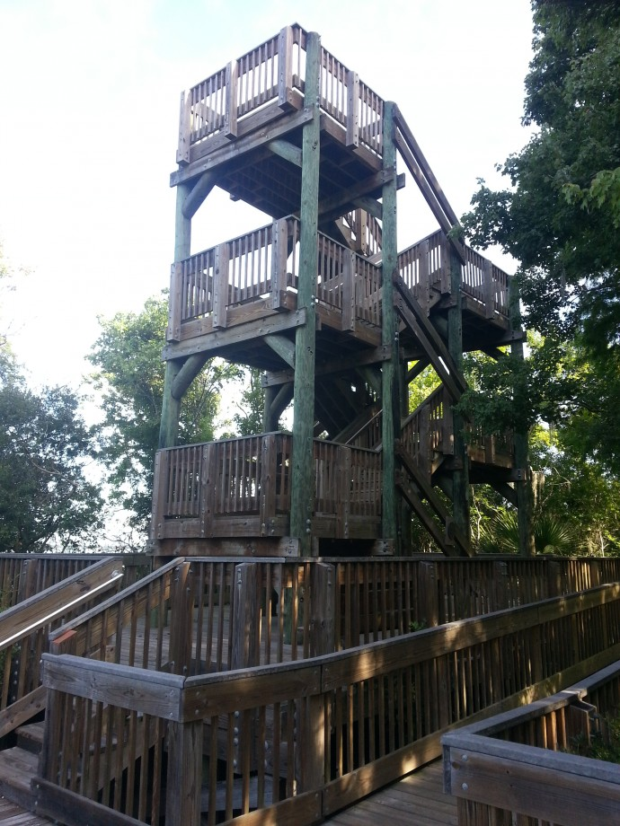 Lookout tower by Lake Tarpon