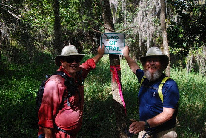 Paul and John at Black Bear Wilderness after our AT hike