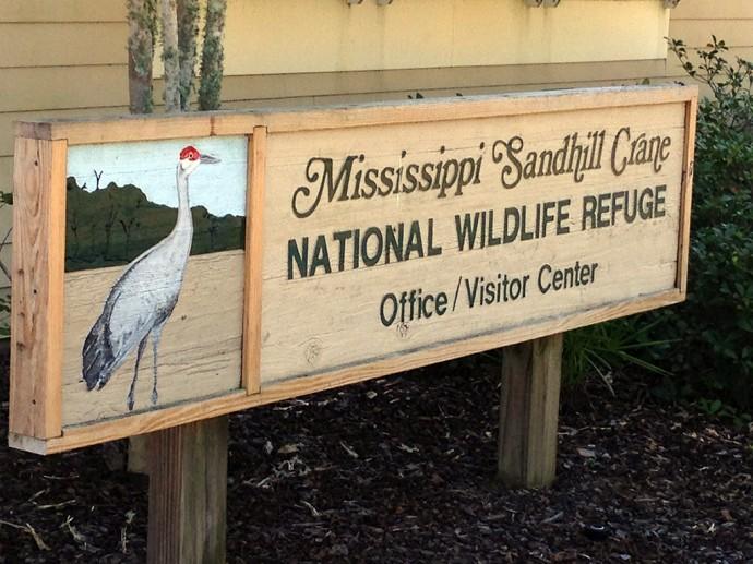 Visitor center at the refuge