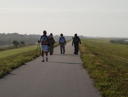 Hikers near Port Mayaca