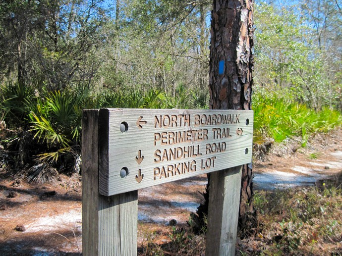 Sign at the north end of the trail system