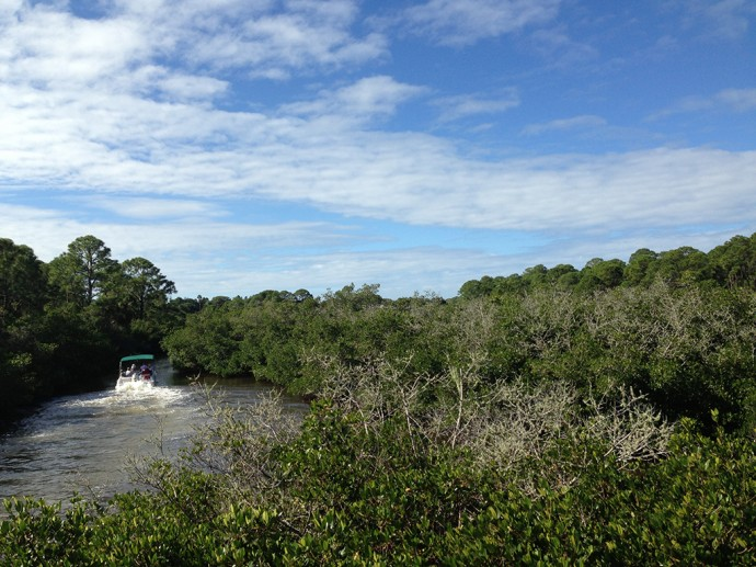 Oyster Creek is a navigable waterway