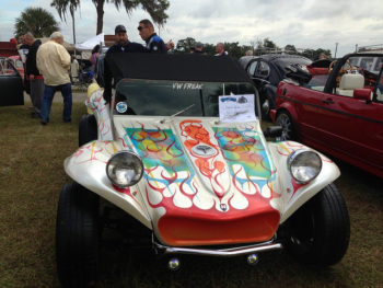 The dune buggy as a canvas for an artist