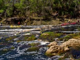Paddlers attempting Big Shoals