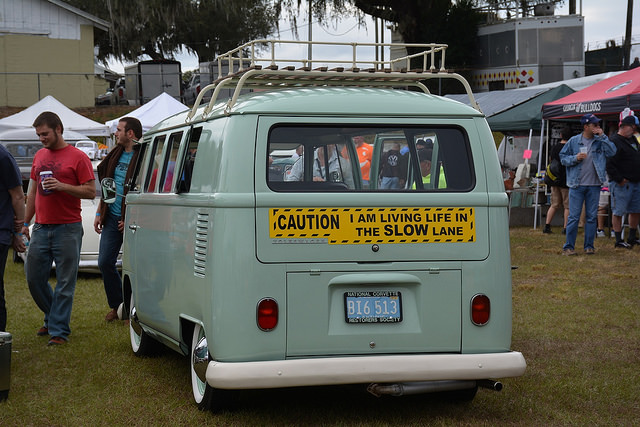 Owning a VW bus means living life in the slow lane