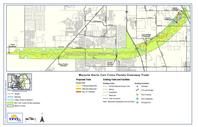 Proposed route of bike path (click to download PDF)