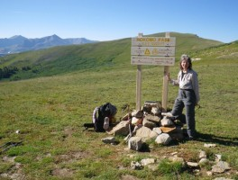 "Judy ""Heartfire"" Gross hiking the Colorado Trail"