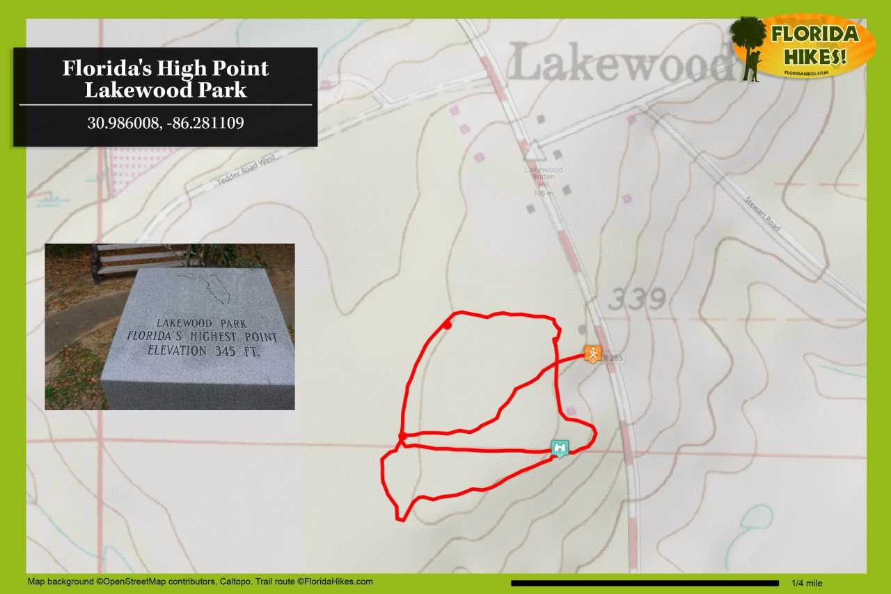 Florida high point trail map