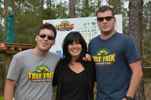 The Barbusci family at Orlando Tree Trek