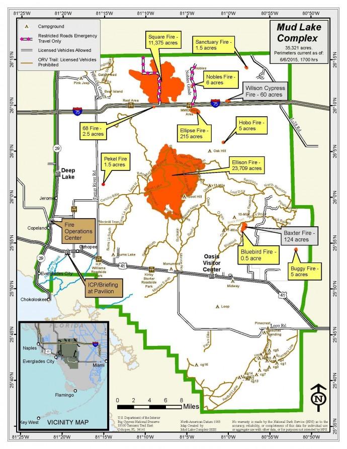 Inciweb Mud Lake Complex map 6-6-15