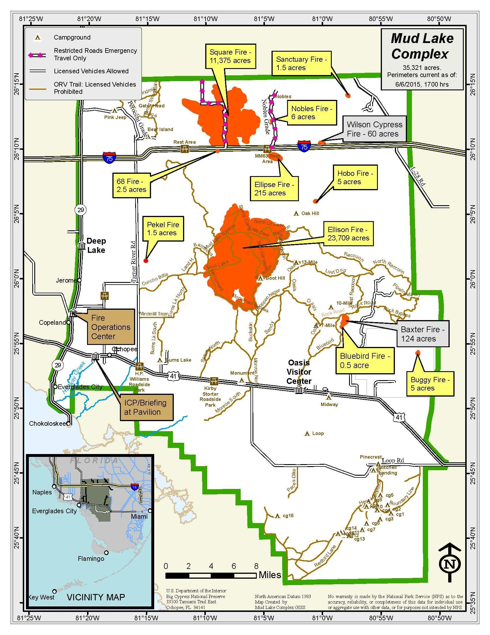 Big Cypress Wildfires Update Florida Hikes - Florida map of fires
