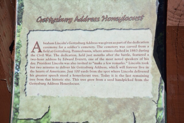 One of the interpretive signs