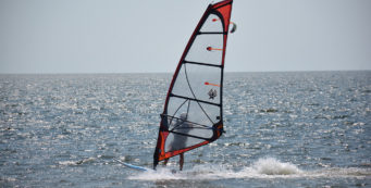 Sailboarding at Canadian Hole