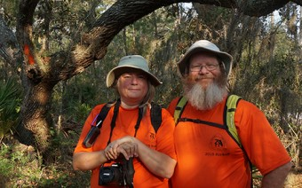 Sandy & John on the Florida Trail, Seminole State Forest