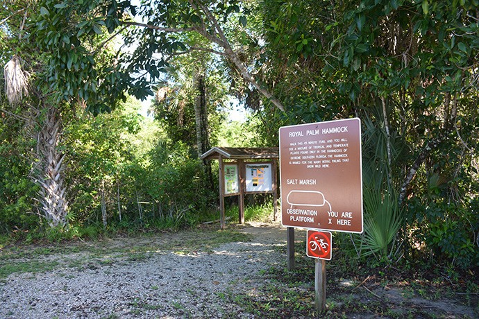 Entrance to the Royal Palm Hammock Trail