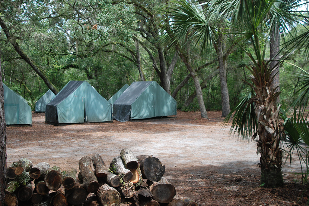Tents used by the Boy Scouts at Camp La-No-Che