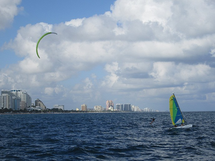 Others playing in the wind off Fort Lauderdale Beach