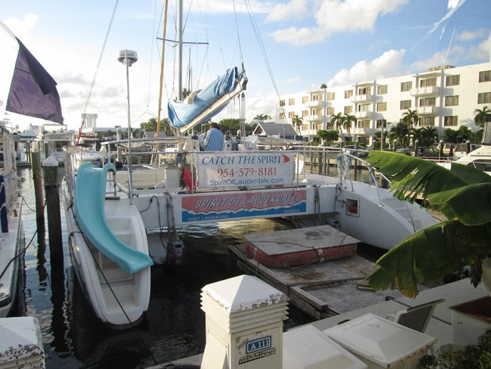 Spirit of Lauderdale at dock