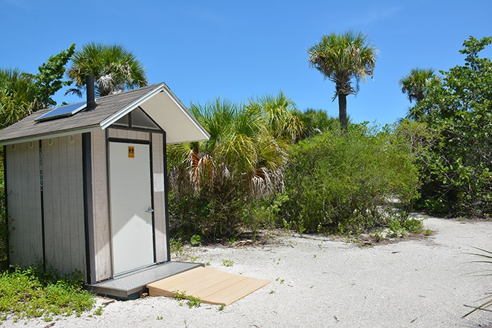 Facilities down at the wild end of the preserve