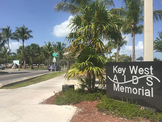 Key West Aids Memorial at the end of White Street