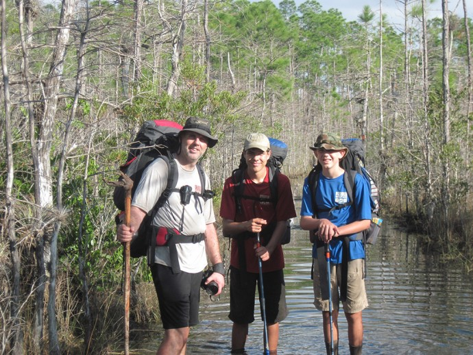 Umby, Zack & Bear backpacking Big Cypress