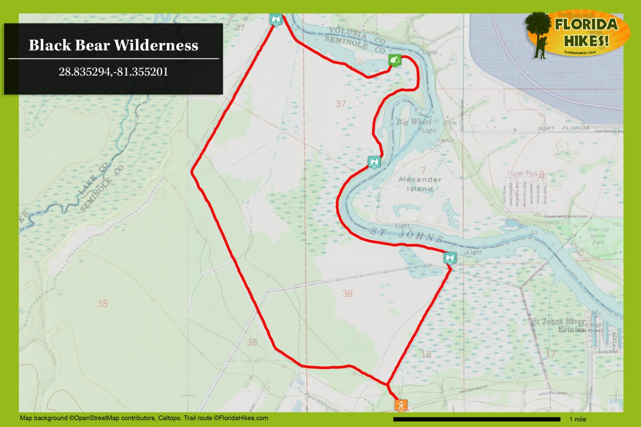 Black Bear Wilderness map