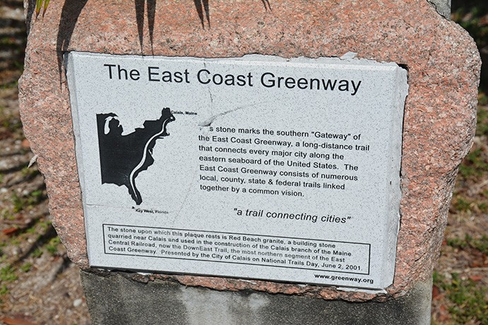 East Coast Greenway marker