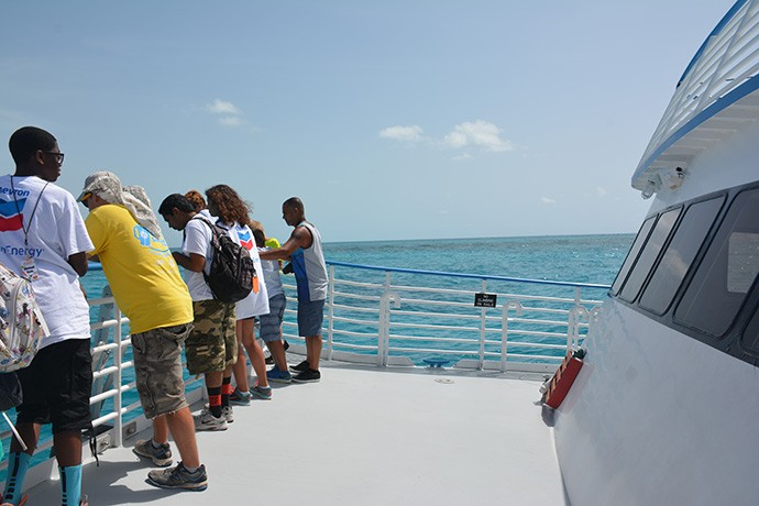 GeoForce students on the sea