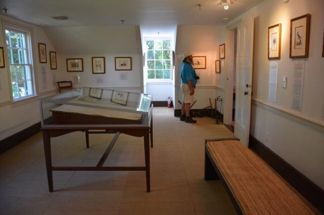 Audubon's art inside the Audubon House