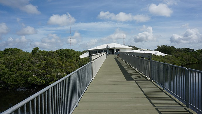 Bridge from the Environmental Learning Center to the Snail Trail