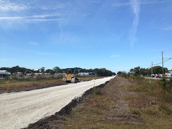 Titusville bike path construction
