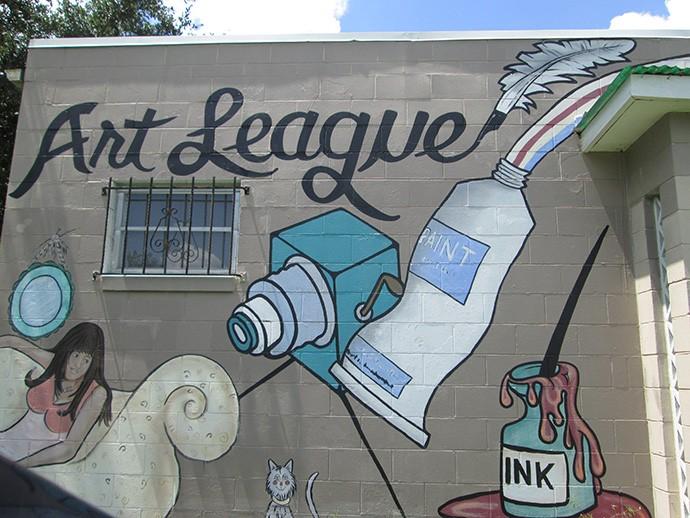 Mural at the Art League