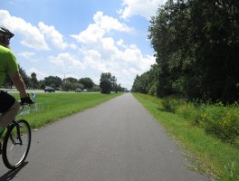 Biking north from Titusville