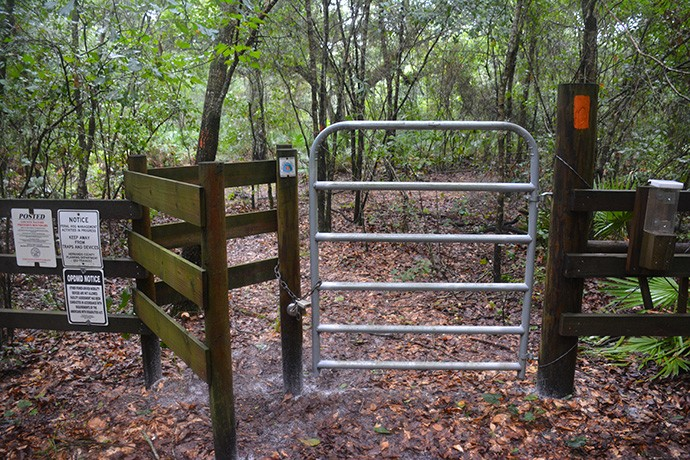 Stile at the north end of the trail