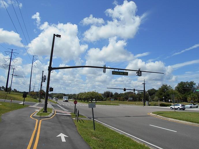 The crucial turn at Rinehart to cross I-4