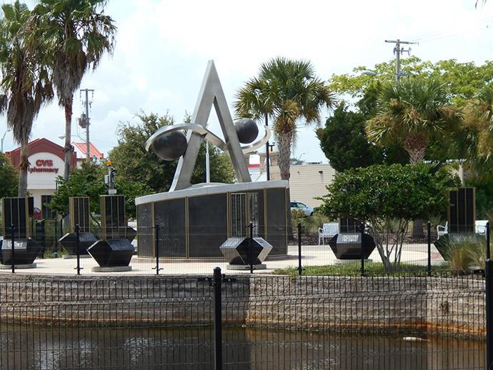 Apollo memorial at Space View Park