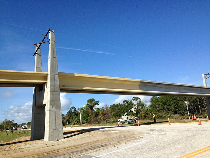Bridge construction over SR 422