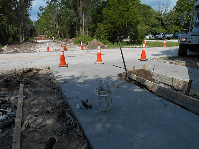 Curbs going in at Air Park Road