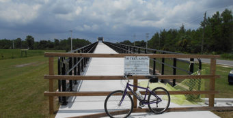 Starting my ride south of the SR 442 bridge