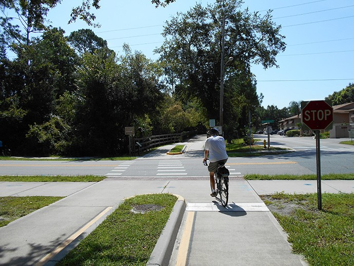 Bike path in Enterprise