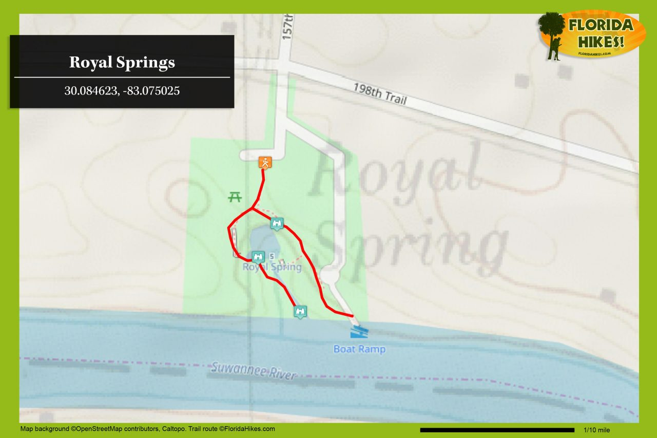 Royal Springs map