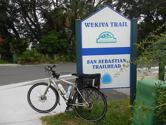 San Sebastian Trailhead on the Seminole Wekiva Trail