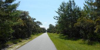 Typical straightaway through Deltona on the ECRRT
