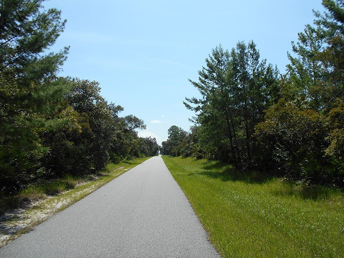 Typical straightaway through Deltona on the ECRRT