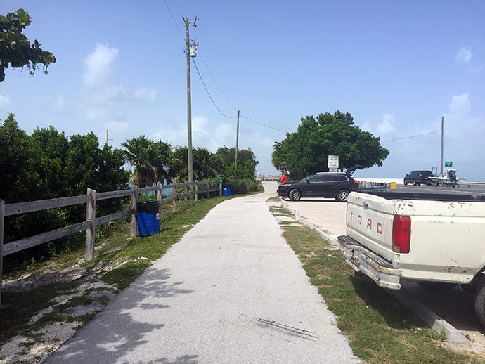 Parking area on Craig Key
