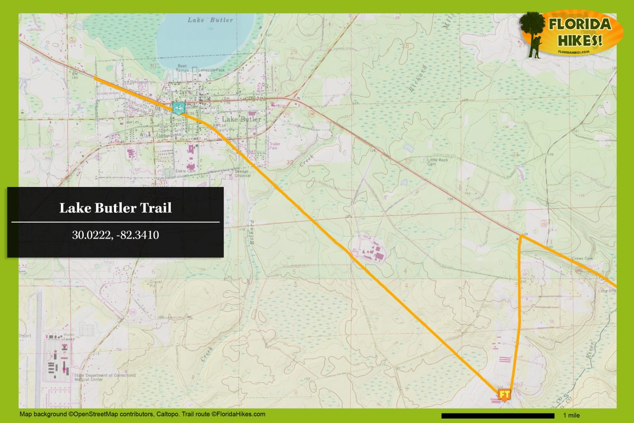 Lake Butler Trail map