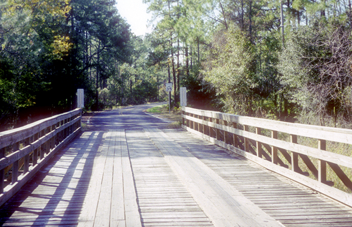 Wooden bridge Rock Ridge